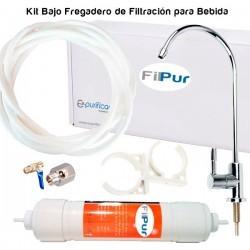 Kit de Filtración bajo fregadera para agua de bebida