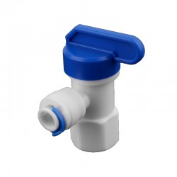 """Llave depósito osmosis rosca 1/4"""" hembra a 1/4"""" tubo"""