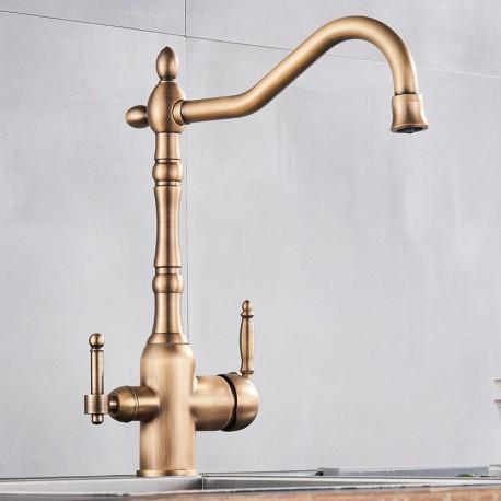 Grifo Osmosis Inversa 3 vías de diseño antiguo