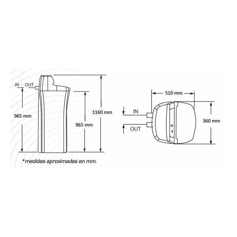 Descalcificador dom stico whirlpool 25 litros www e for Precio instalacion descalcificador