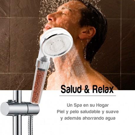 Cabezal de ducha + Filtro de ducha purificador de agua FILPUR