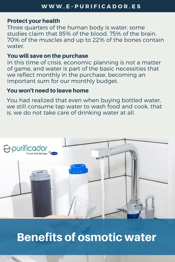 Benefits of osmotic water